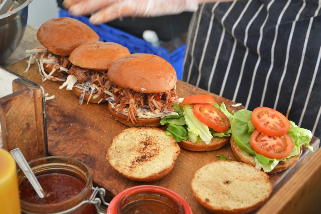 Jones & Sons BBQ - Pulled Pork Rolls in the making