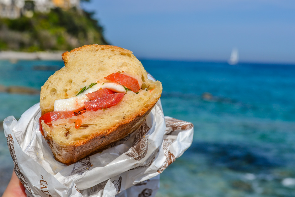 Salumeria da Aldo - Caprese Sandwich by the water