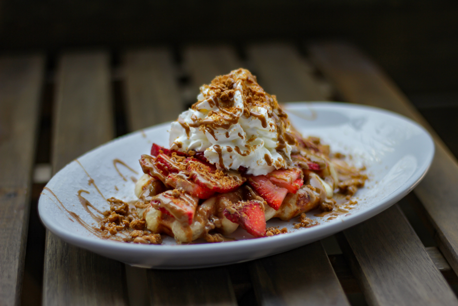 Wafels & More -Speculoos Strawberry Waffle