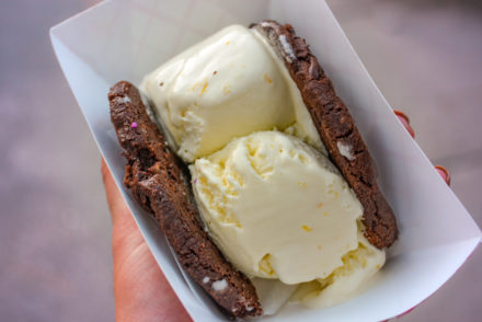 Bang Bang Ice Cream & Bakery - Chocolate Cookie and orange cardamom ice cream