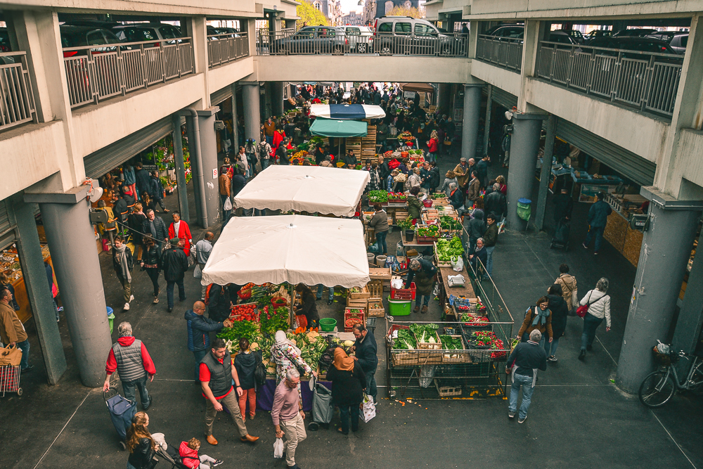 View of the Marché des Capucins from above