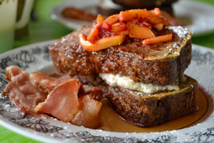 The Diner House 29 - Raspberry Peach Loaf French Toast