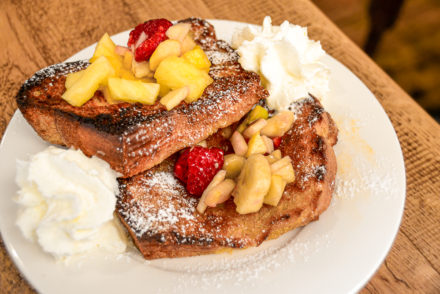 Books & Coffee - French toast with fruit